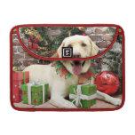 Navidad - Labrador amarillo - Strider Fundas Para Macbook Pro