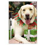 Navidad - Labrador amarillo - Strider Pizarras