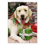 Navidad - Labrador amarillo - Strider Tarjetón
