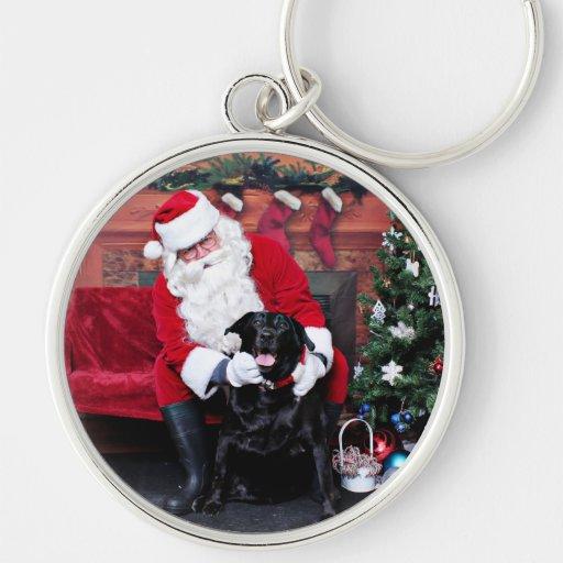 Navidad - Labrador - Gidget Llavero Personalizado