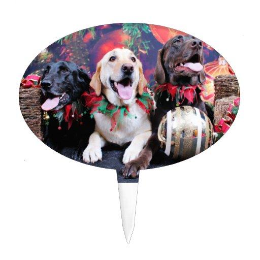 Navidad - Labrador - punta y moca del tipo Decoración Para Tarta