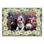 Navidad - Labrador - punta y moca del tipo Tarjeta De Felicitación