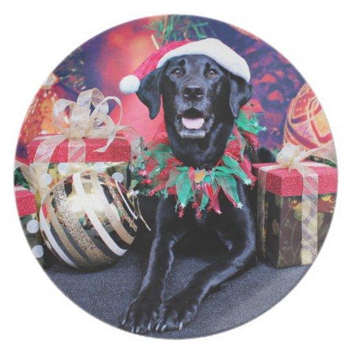 Navidad - Labrador - tonelero Plato