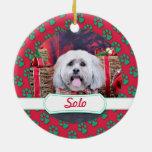 Navidad - Lasa Apso - a solas Ornamento Para Arbol De Navidad