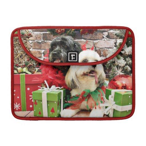 Navidad - Lasa Apso - trébol y duendecillo Funda Macbook Pro