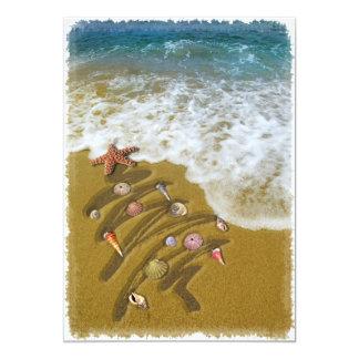 """Navidad lavado para arriba en orilla invitación 5"""" x 7"""""""