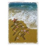 Navidad lavado para arriba en orilla tarjeta de felicitación