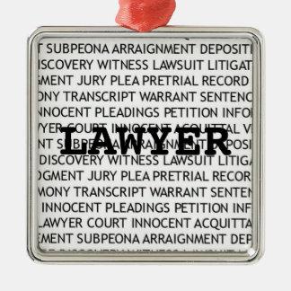 Navidad legal de la terminología del abogado ornamentos de reyes