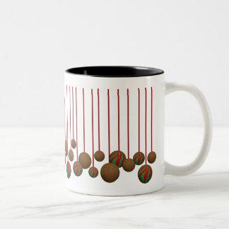 Navidad leopardo y ornamentos de la cebra tazas de café