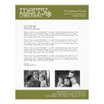 Navidad - letra de las vacaciones - PLANTILLA Membrete