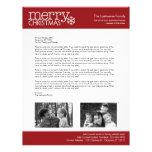 Navidad - letra de las vacaciones - PLANTILLA Membretes Personalizados