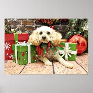 Navidad - LhasaPoo - caramelo Poster