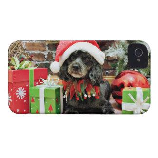 Navidad - LhasaPoo - Leo iPhone 4 Case-Mate Carcasa