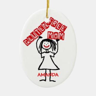 Navidad libre de la mamá del gluten ornamento de navidad