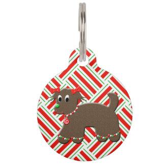 Navidad linda de los mascotas del navidad del placa de mascota