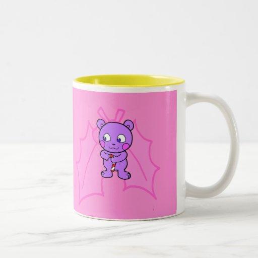 Navidad linda del oso tazas de café
