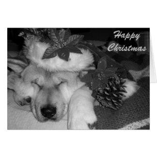 Navidad lindo de la decoración del cono del gorra tarjeta de felicitación