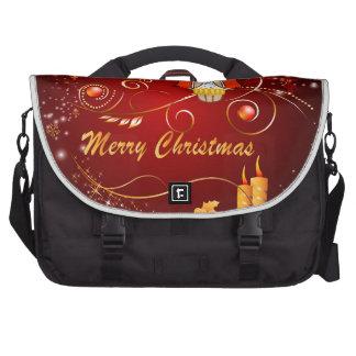 Navidad lindo del búho bolsas de portátil