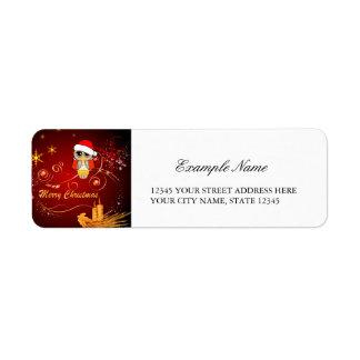 Navidad lindo del búho etiquetas de remite