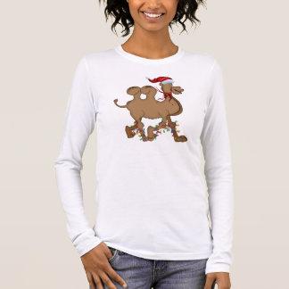Navidad lindo del día de chepa del camello playera de manga larga