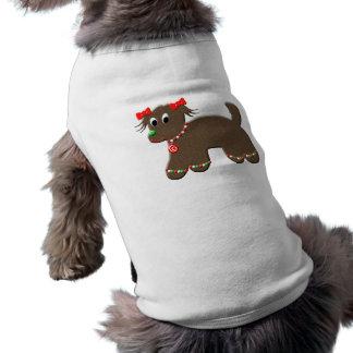 Navidad lindo del perro de perrito del pan de playera sin mangas para perro