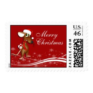 Navidad lindo del ratón de Santa del dibujo animad