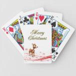 Navidad lindo del reno del dibujo animado cartas de juego