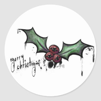 Navidad lindo espeluznante/pegatina redondo de pegatina redonda
