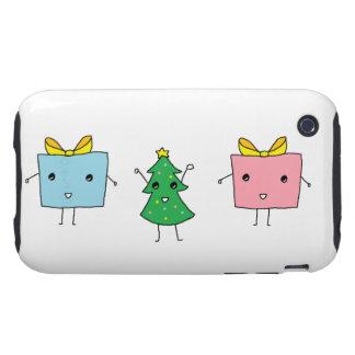 Navidad lindo tough iPhone 3 cárcasas