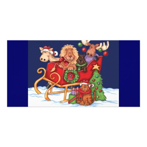Navidad lindo plantilla para tarjeta de foto