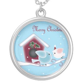 Navidad lindo que besa el collar de los pájaros pa