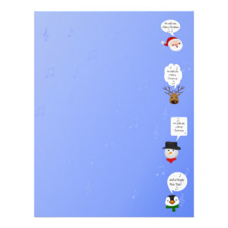 Navidad lindo y divertido - papel de letra de los  membretes personalizados