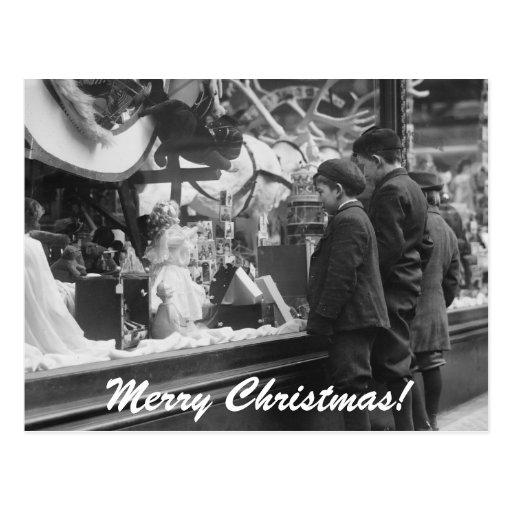 Navidad lista de objetivos, los años 20 postales