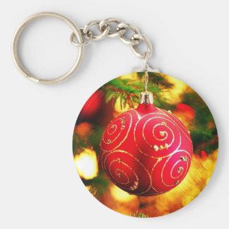 Navidad Llavero Redondo Tipo Pin