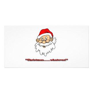 ¡Navidad lo que! Tarjetas Fotograficas Personalizadas