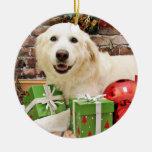 Navidad - los grandes Pirineos Labrador X - Ginny Adorno Para Reyes