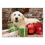 Navidad - los grandes Pirineos Labrador X - Ginny Felicitación