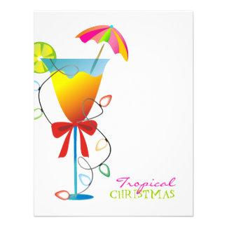navidad Luau del paraíso 311-Tropical Anuncio Personalizado