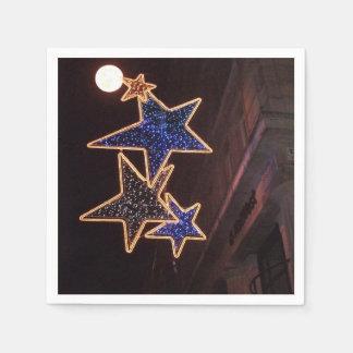 Navidad luna y estrellas en la calle de Jermyn Servilleta De Papel