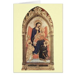 Navidad - Madonna y niño - gentil DA Fabrian Tarjetas