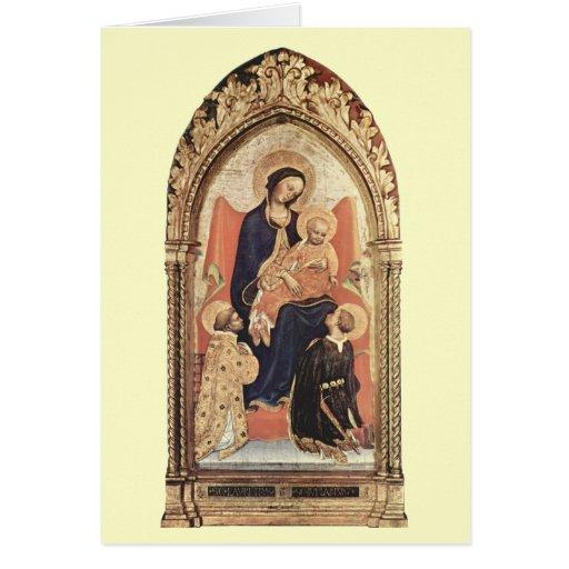 Navidad - Madonna y niño - gentil DA Fabrian Tarjeta De Felicitación