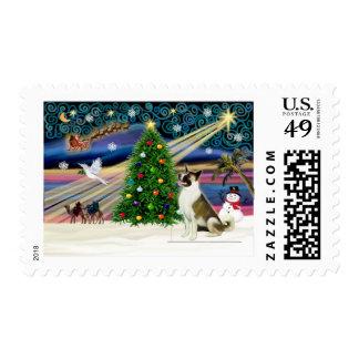Navidad Magia-Akita brwn-blanco Sellos