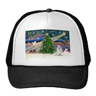 Navidad Magia-Havanese-blanca Gorras De Camionero