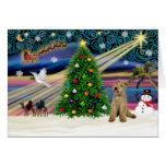 Navidad Magia-Lakeland Terrier Tarjetas