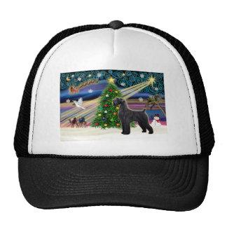 Navidad Magia-Schnauzer-Negro-Gigante Gorros