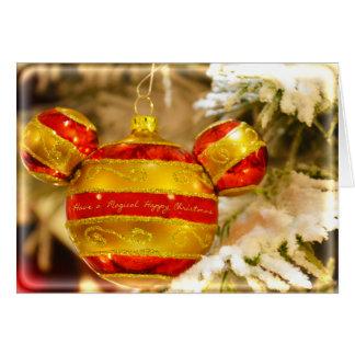 Navidad mágico tarjeta de felicitación