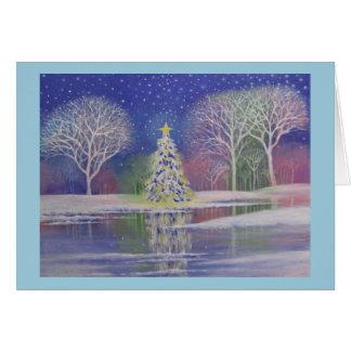 Navidad mágico, tarjeta de felicitación