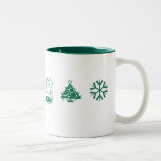 Navidad mágico taza dos tonos