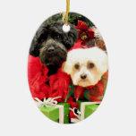 Navidad - maltés - Annie y YorkiePoo - Hannah Ornaments Para Arbol De Navidad