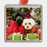 Navidad - maltés - Annie y YorkiePoo - Hannah Ornato